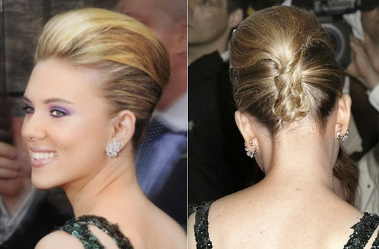 Wedding hairstyle ideas, inspiration from the red carpet- modern french twist