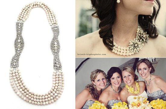 photo of Statement Wedding Necklaces by Elva Fields