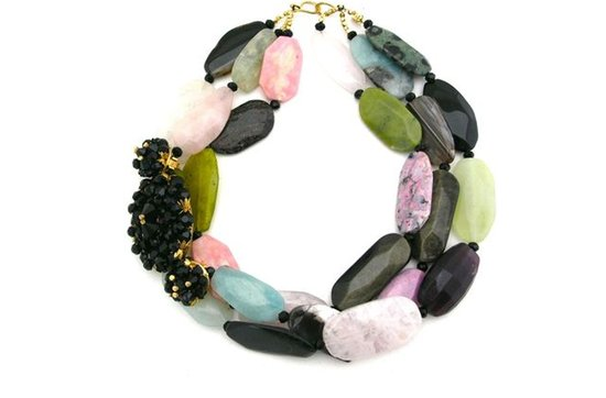 Statement wedding necklaces- multicolor