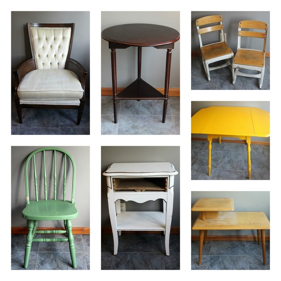 Momentarily Yours Events Kansas City Vintage Rentals Furniture Collage