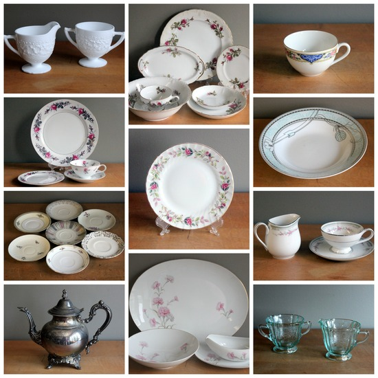 Momentarily Yours Events Vintage Rentals China Tea Kansas City Collage