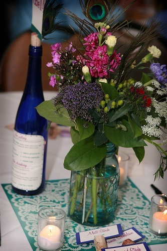 Mason Jar Centerpieces Styled by Momentarily Yours Events Wedding Kansas City