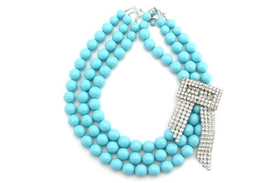 Statement wedding necklaces- something blue