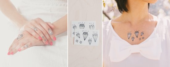 Diamond bling temporary tattoos