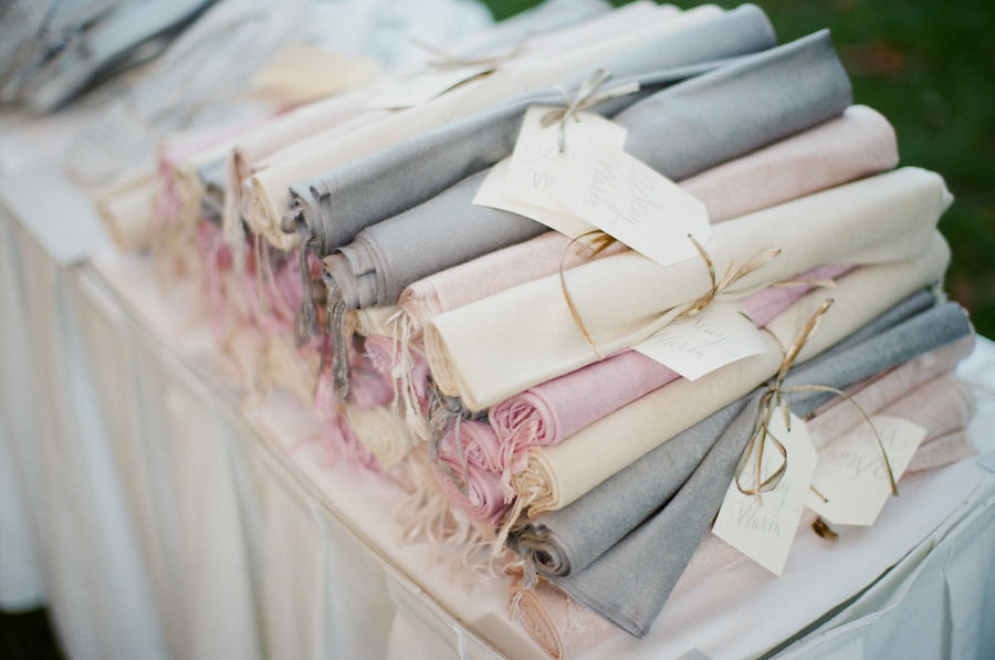 Elegant Pashminas Wedding Guest Favors