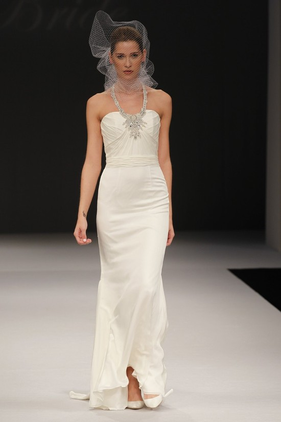 Badgley Mischka wedding dresses, Spring 2012 bridal gown- vintage-inspired beading