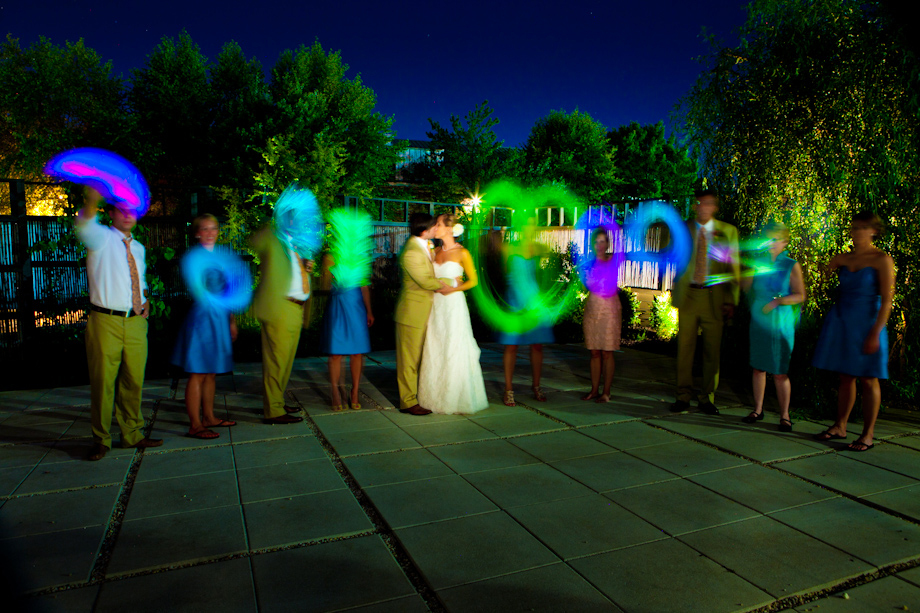 Fun with glow sticks at wedding reception for Fun things for wedding receptions