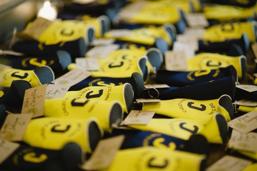 Yellow-and-navy-custom-koozie-wedding-favors.full