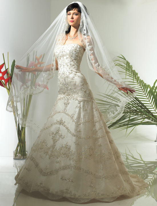 Val Stefani Wedding Dress  Beading