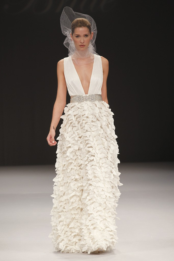 badgley mischka wedding dresses spring 2012 bridal gown With plunging neckline wedding dress