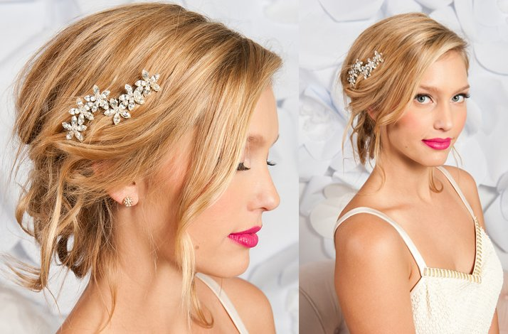Tessa Kim wedding hair accessories and veils, FLeur bridal hair accessory