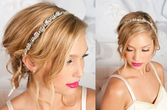 Tessa Kim wedding hair accessories and veils, Sophronia bridal headband