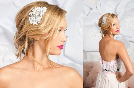 Tessa Kim wedding hair accessories and veils, Minevera bridal comb