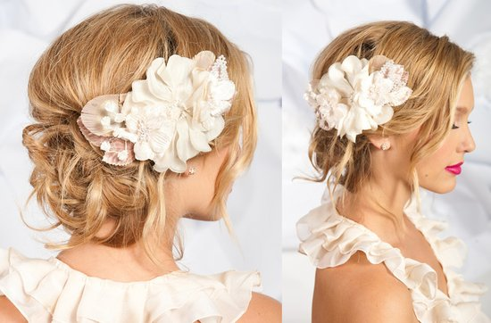 Tessa Kim wedding hair accessories and veils, Ada wedding headpieec