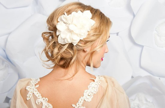Tessa Kim wedding hair accessories and veils, Elvira hair flower