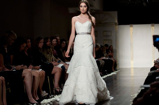 Tara Keeley lace wedding dress, 2012