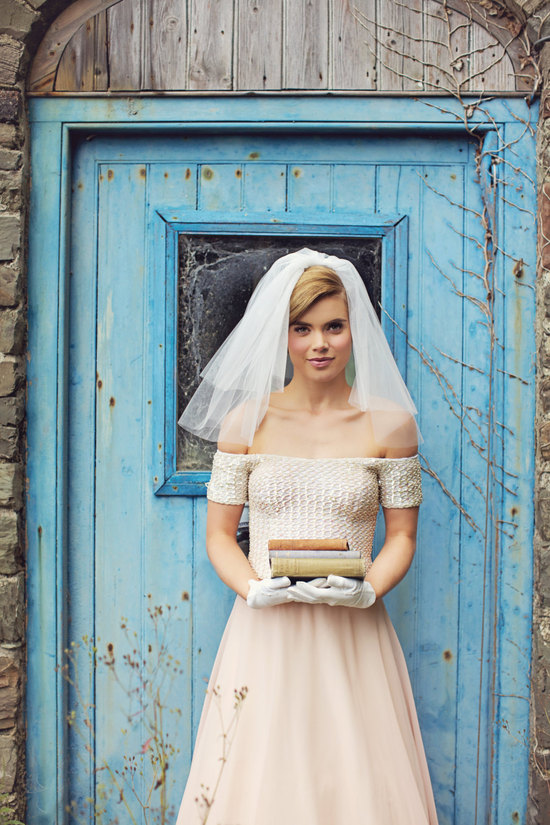 1950s vintage wedding dress Audrey Hepburn inspired