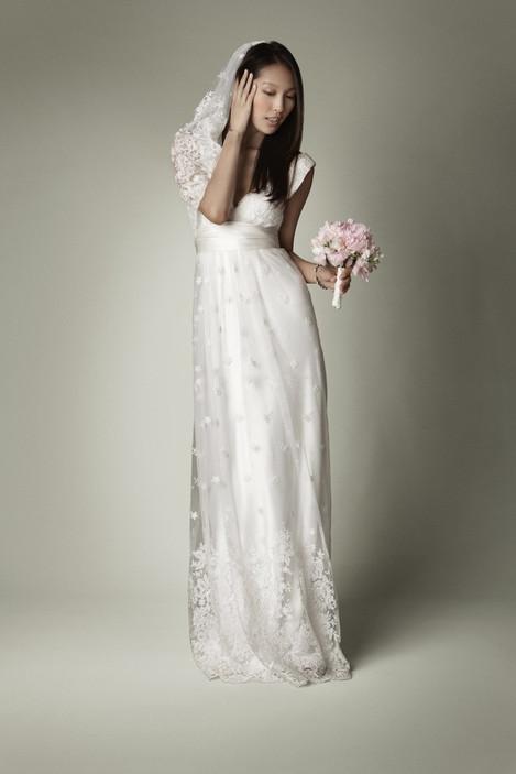 lace and crochet mermaid vintage wedding dress