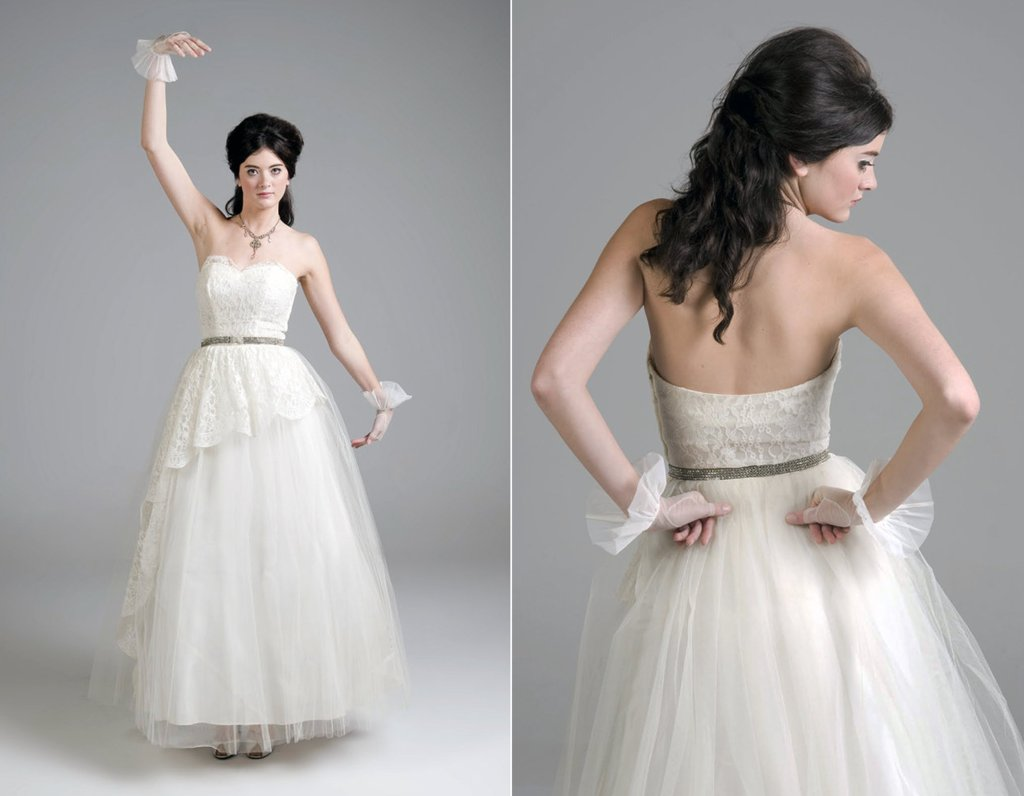 Vintage-tulle-and-ivory-lace-a-line-wedding-dress.full