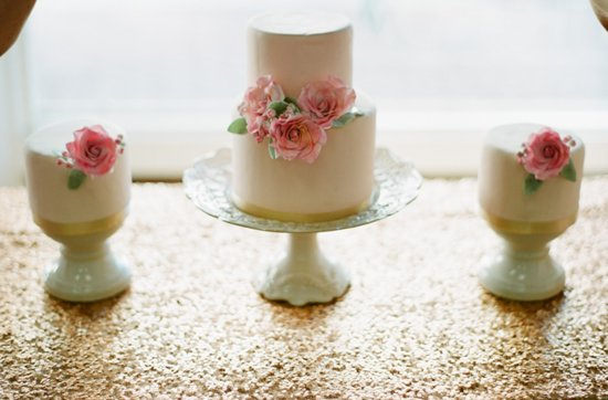 Pretty pink wedding cakes, mini petit fors 11