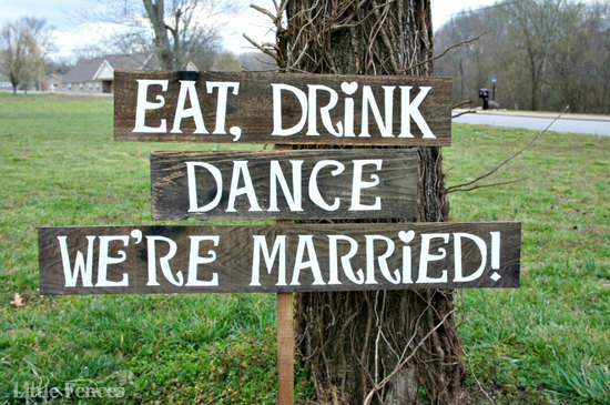 photo of Country Wedding Signs