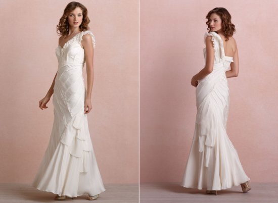 photo of BHLDN Ribboned Silk wedding dress