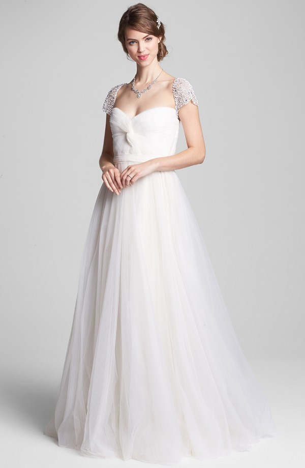 laurel wedding dress from reem acra roses bridal collection onewed