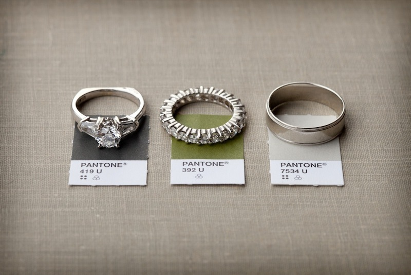 wedding rings and color palette photography inspiration