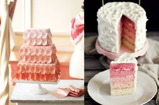 Pretty pink wedding cakes, 4