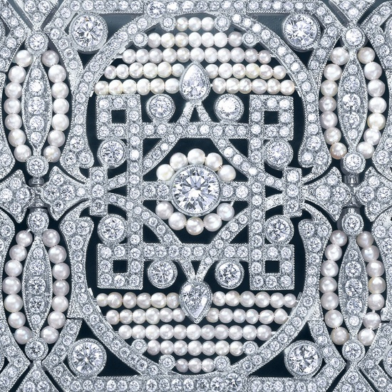 Pearl and diamond bracelet by Tiffany inspired by Great Gatsby