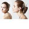 Sleek-wedding-hairstyle-vintage-birdcage-veil.square