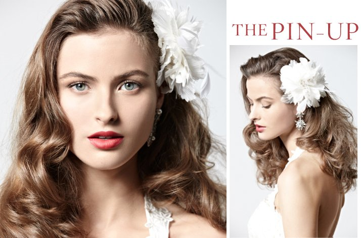 vintage-inspired wedding hairstyle- all-down retro waves