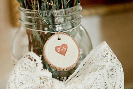 personalized rustic wood wedding centerpiece tag