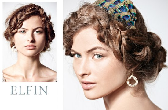 vintage-inspired wedding hairstyle for bohemian brides