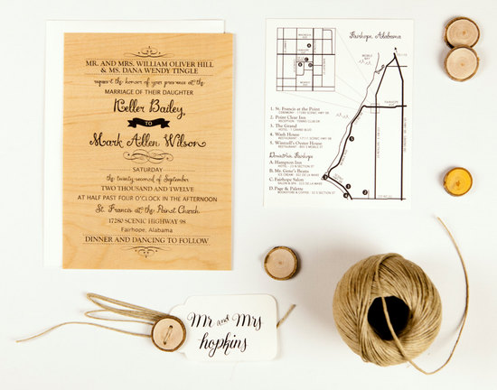Wilson Wood Wedding Invitation Suite