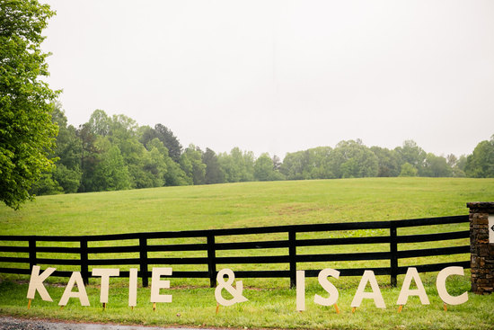 custom wood wedding lawn letters