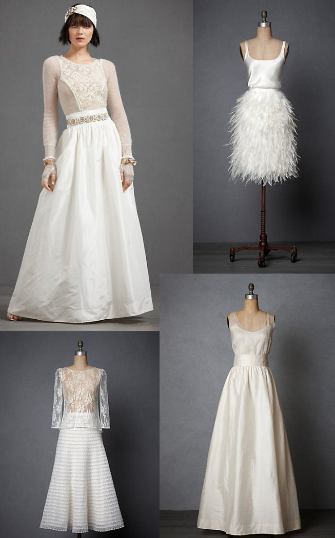 BHLDN wedding dress separates for vintage inspired brides
