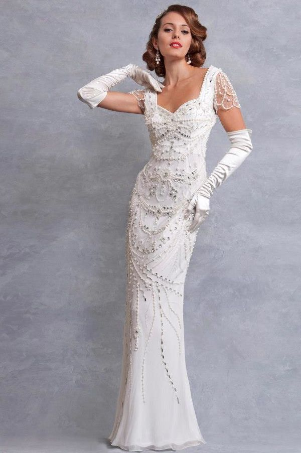Wedding dress inspired by the 1930s eliza jane howell for 1930s style wedding dresses