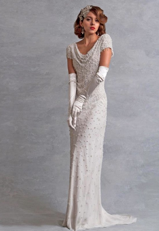photo of wedding dress inspired by the 1930s Eliza Jane Howell bridal 2