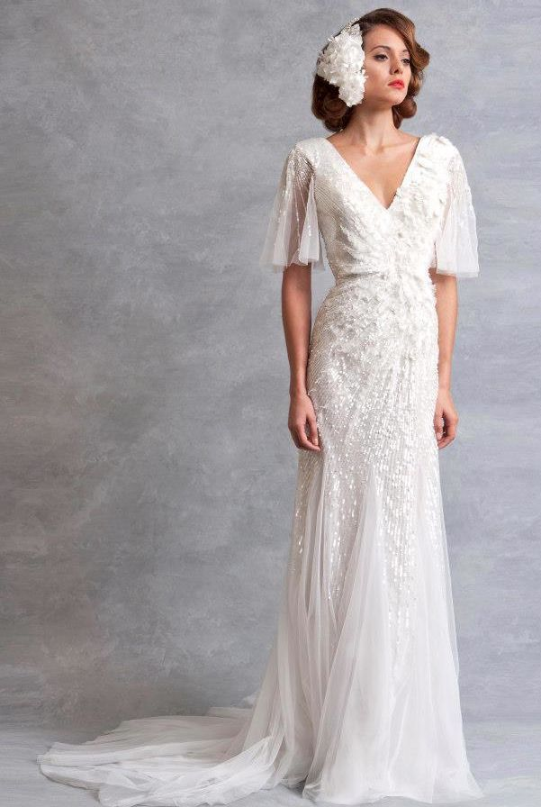 Wedding dress inspired by the 1930s eliza jane howell for Wedding dress 30s style