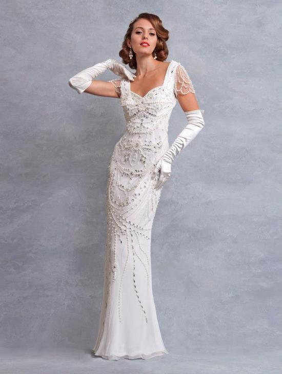 wedding dress inspired by the 1930s Eliza Jane Howell bridal 1