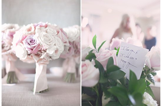 photo of Soft and romantic real wedding bridesmaid bouquets