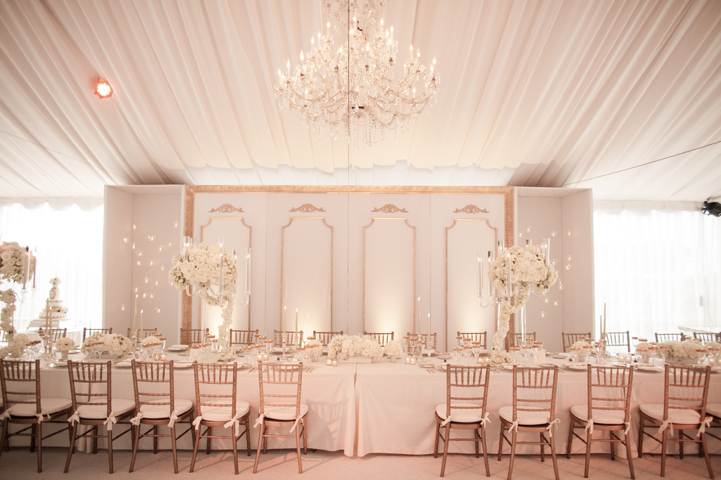 White lilac inc elegant wedding reception design with for Design your wedding reception