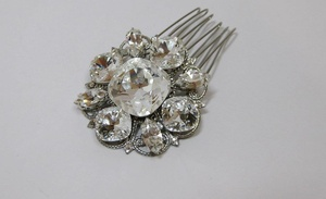 photo of Laura Jayne couture bridal hair comb