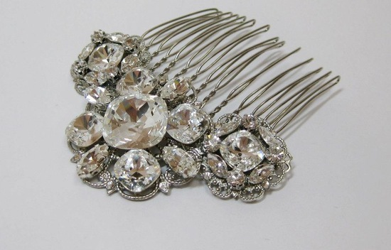 Wedding hair accessories- vintage chic bridal comb