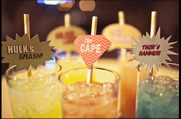 Offbeat Wedding Theme Superhero Wedding Ideas Reception Cocktails