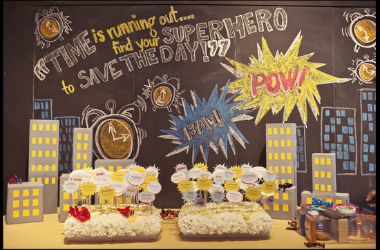Offbeat wedding theme: superhero wedding ideas, welcome table