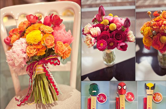 Offbeat wedding theme: superhero wedding ideas, bridal bouquet