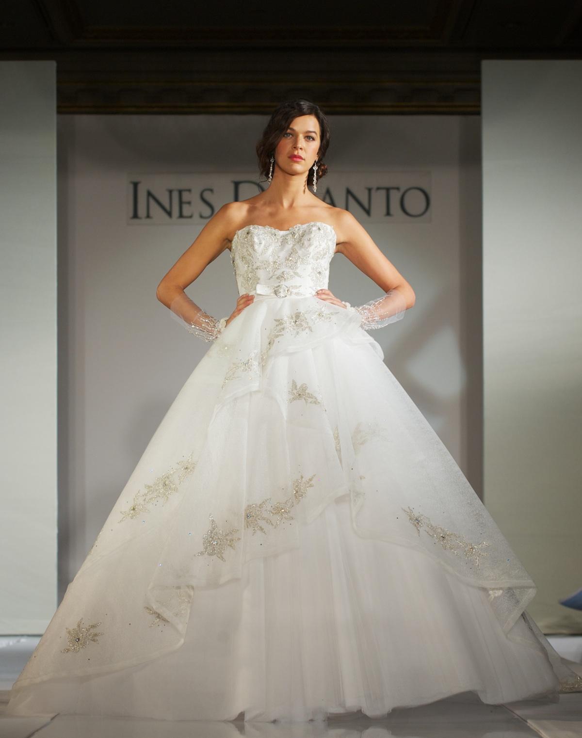 2012 wedding dress trends peplums for Ines di santo wedding dress