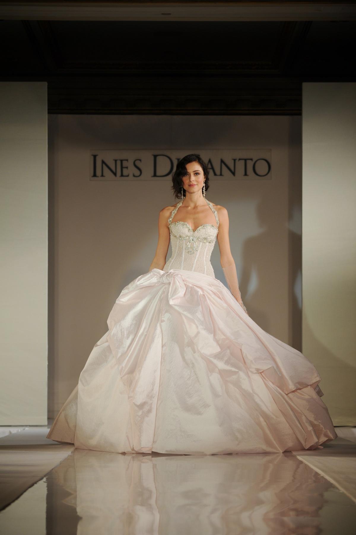 2012 wedding dress trends non white wedding dresses for Ines di santo wedding dress